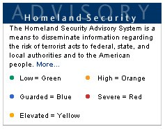 Homelad Security advisories with corresponding colors