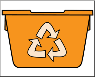 orange recycling bin