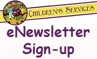 Children Services banner with text - eNewsletter Sign-Up