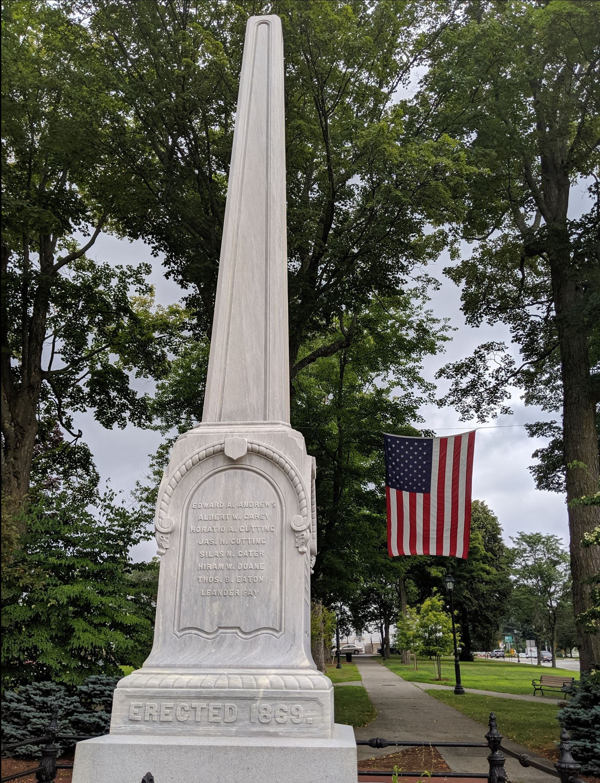 Civil War Monument on the Shrewsbury Town Common