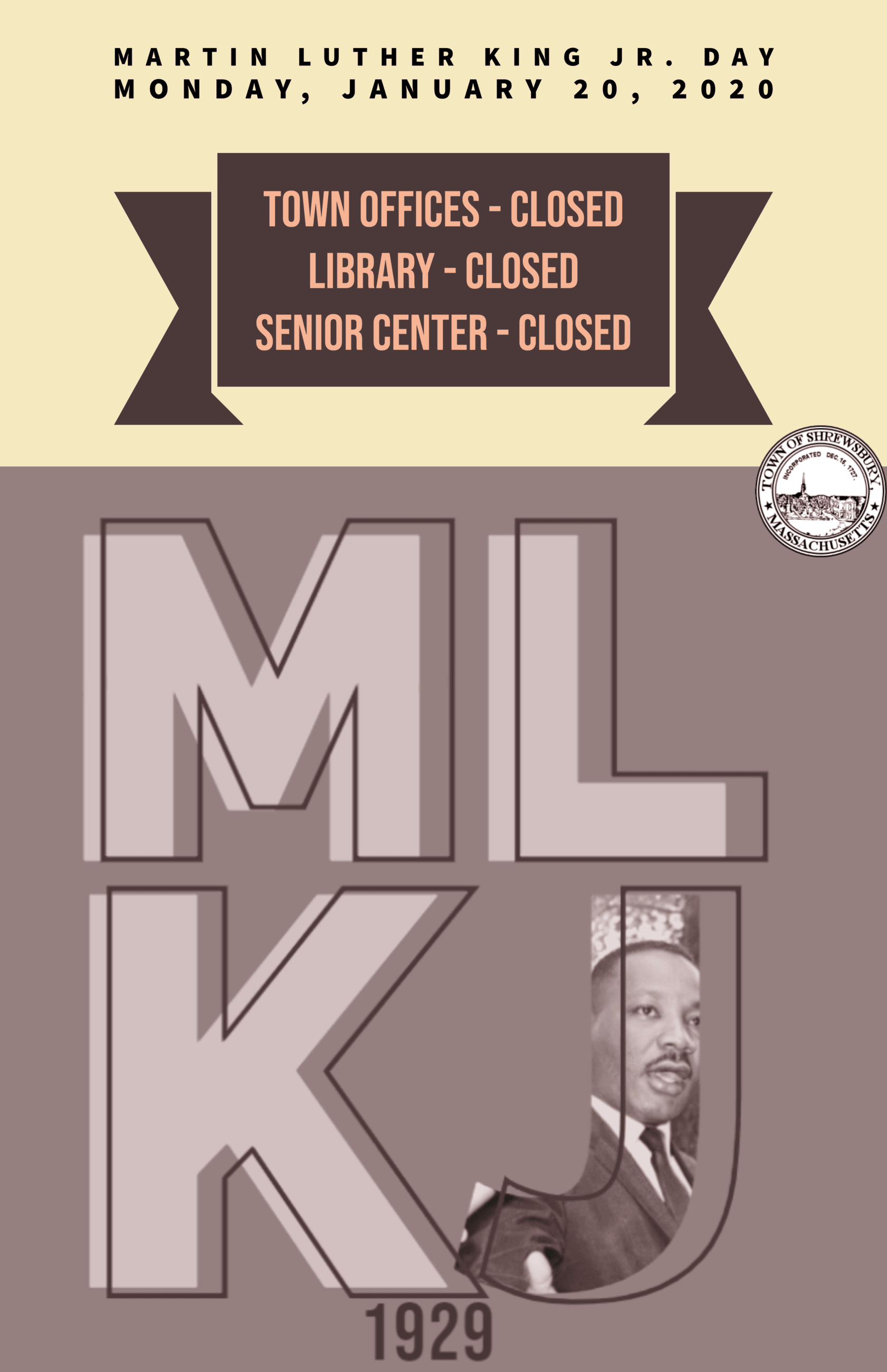 Town Offices Closed MLK Jr Day