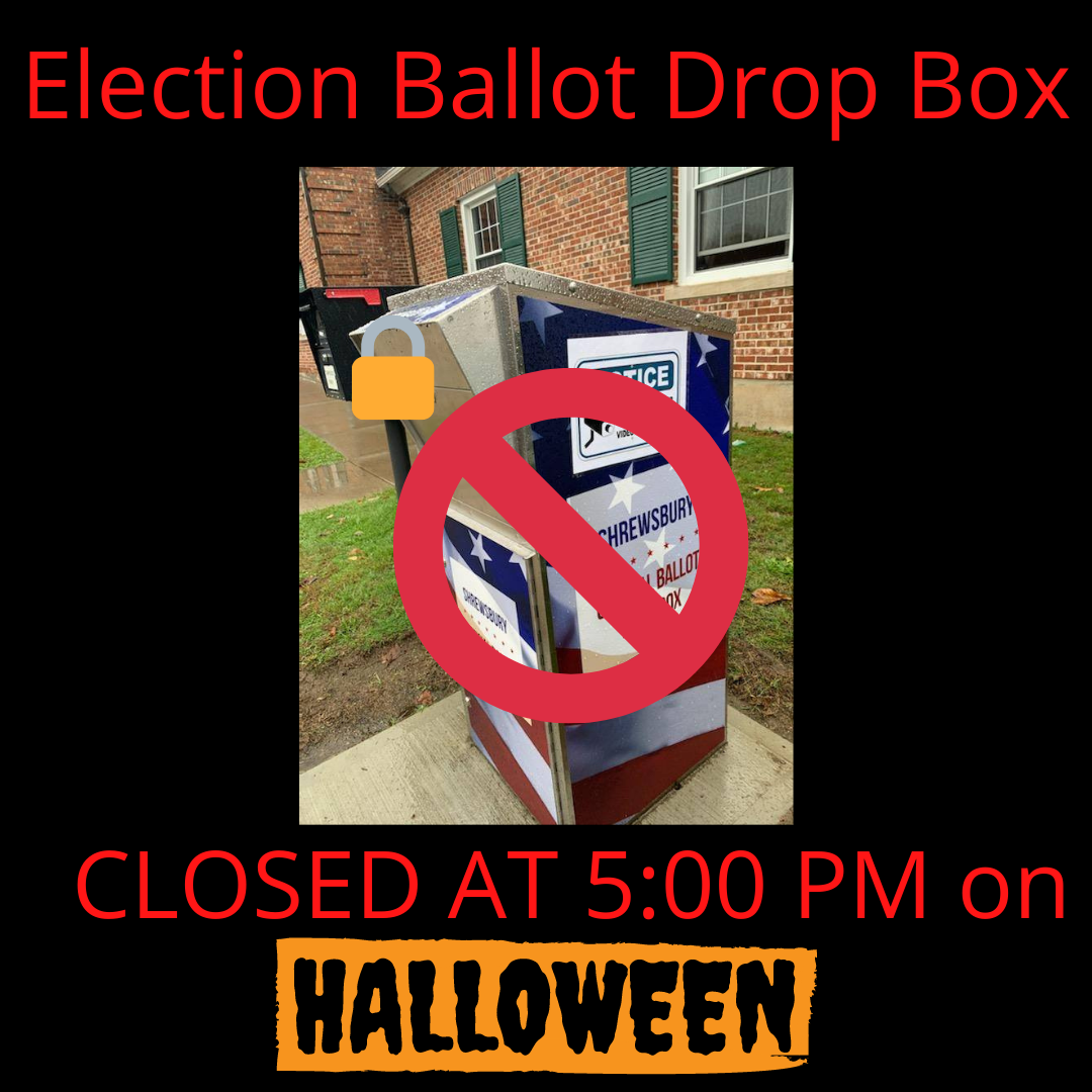 Election Ballot Drop Box Closed on Halloween